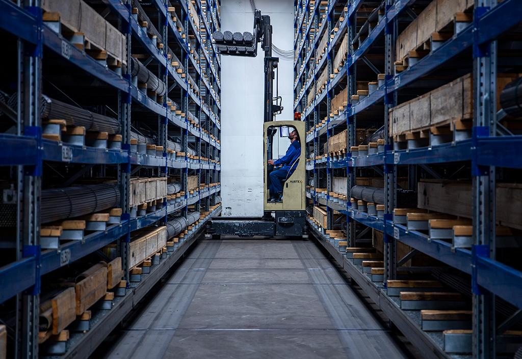 Neubau eines Logistikzentrums mit Verschiebehochregallager